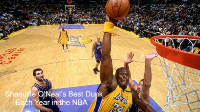 shaquille-oneals-best-dunk-each-year-in-the-nba