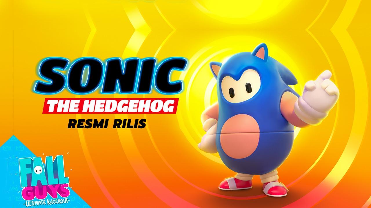 Skin Sonic The Hedgehog Resmi Rilis Di Fall Guys