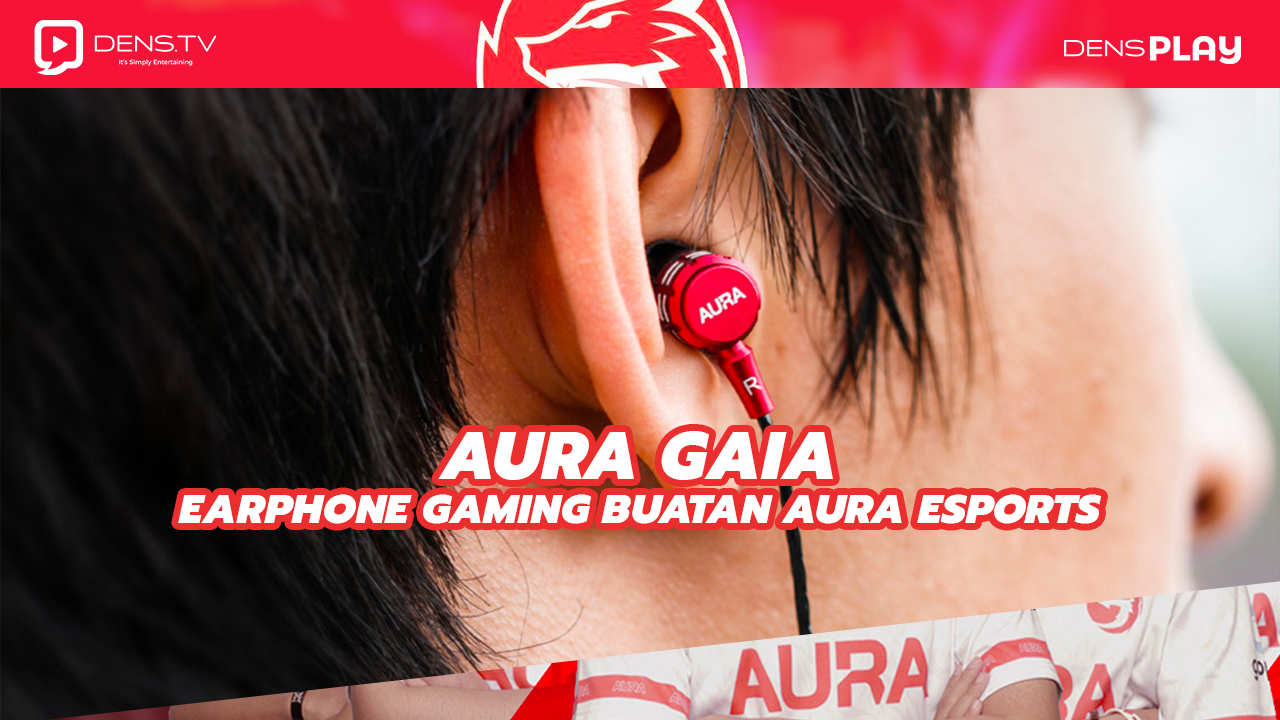 Aura Gaia Earphone Gaming Buatan Aura Esports