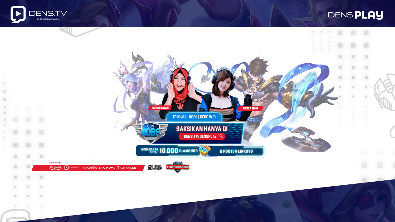 Live Streaming Tournament CBN MOBA Masters S1