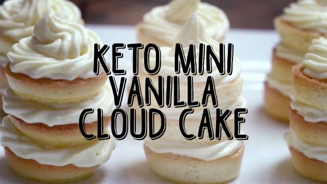 Keto Mini Vanilla Cloud Cake