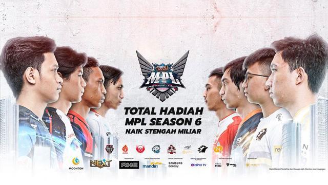 Total Hadiah MPL Season 6 Naik Stengah Miliar
