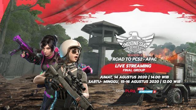 Live Streaming PUBG Indonesia Series 2020 Season 2 Final Group