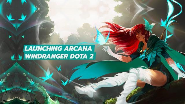 Launching Arcana Windranger Dota 2