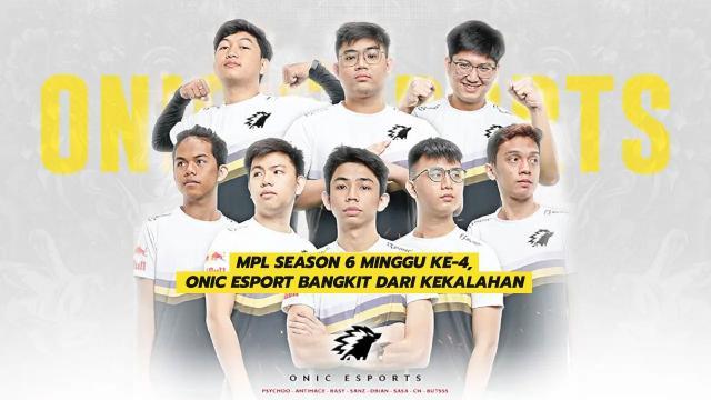 MPL Season 6 Minggu Ke-4, Onic Esport Bangkit Dari kekalahan