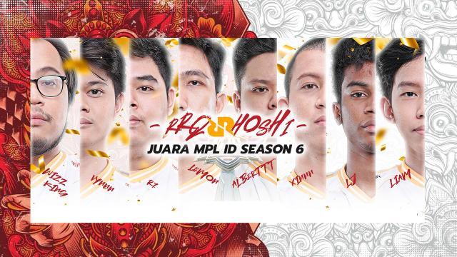 RRQ Keluar Sebagai Juara MPL ID Season 6