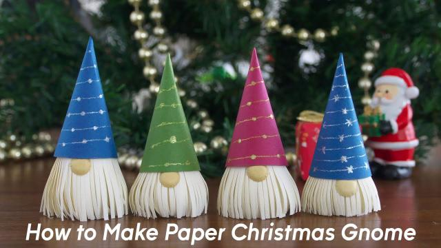 How to Make Paper Christmas Gnome