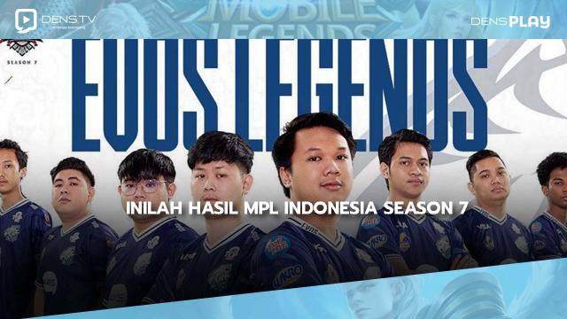 Inilah Hasil MPL Indonesia Season 7: Kemenangan EVOS Legend