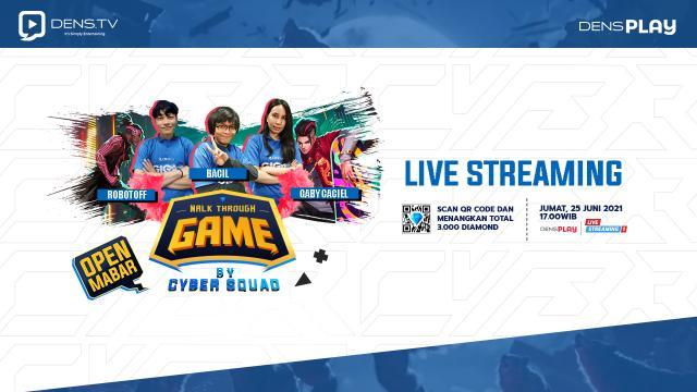 Give Away 3000 Diamond MLBB di Acara Walk Through Game by Cyber Squad Episode 11