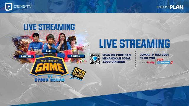 Give Away 3000 Diamond MLBB di Acara Walk Through Game by Cyber Squad Episode 13